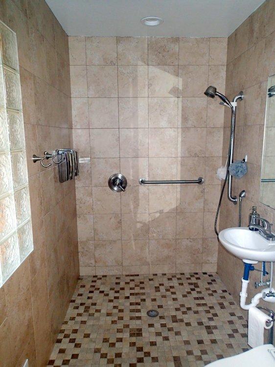 Barrier free bathrooms